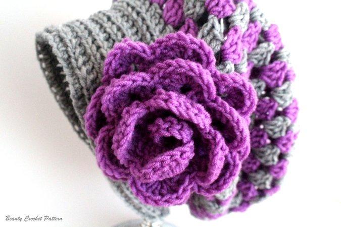 Crochet Slouchy Hat Pattern, Granny Slouchy Hat, Crochet Hat ...