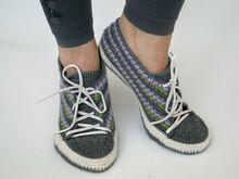 Sneakers Crochet Pattern (Size 6-11)