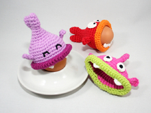 Egg Cozies - Hungry Fishes - Crochet Pattern