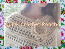 Quick Woman Poncho Crochet Pattern