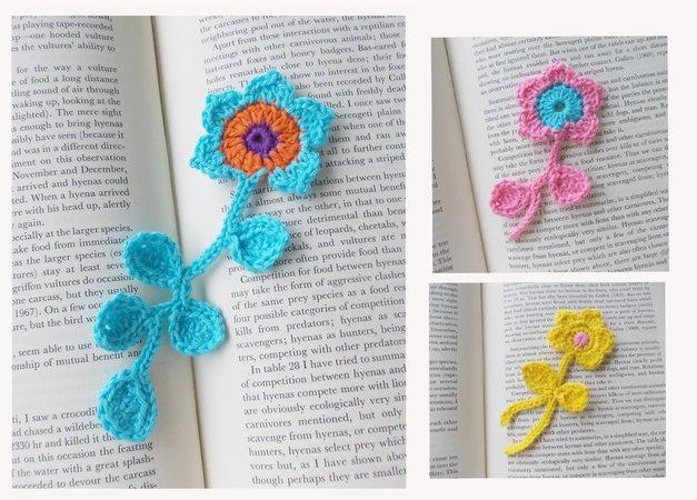 Blume Häkeln Wollreste Verwenden Diy