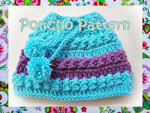 Aimée Poncho Crochet pattern-0 to 7 Years