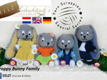 Scrappy Bunny Family - Deutsch