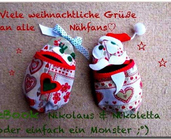 EiWeih - E-Book Puppe Monster Hase Nikolaus Utensilo Beutel Tasche ...