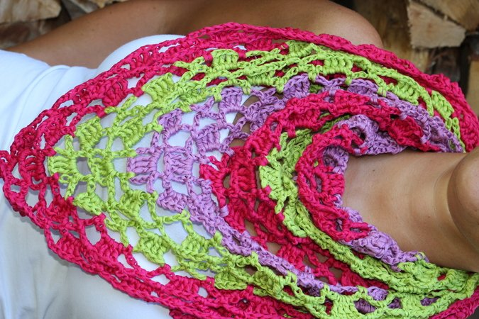 "crochet pattern triangle scarf ""Barbados"""