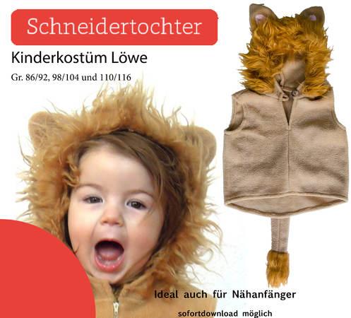 Nähanleitung - Kinderkostüm Löwe