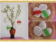Crochet Easter eggs ornament set of 5