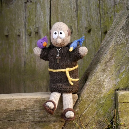 hand puppet St Francis knitting pattern