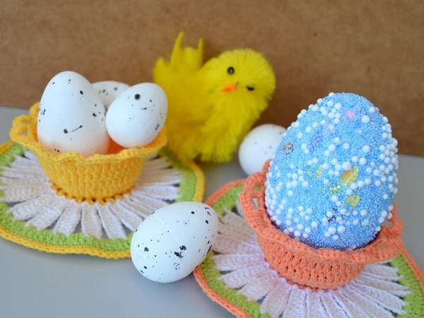 Easter decoration pattern crochet easter basket crochet egg daisy easter decoration pattern crochet easter basket crochet egg holder easter cup easter gifts crochet daisy pdf pattern negle Gallery