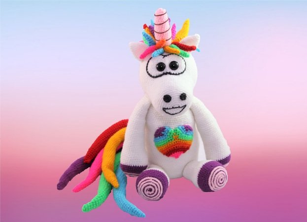 Rainbow unicorn - crochet pattern