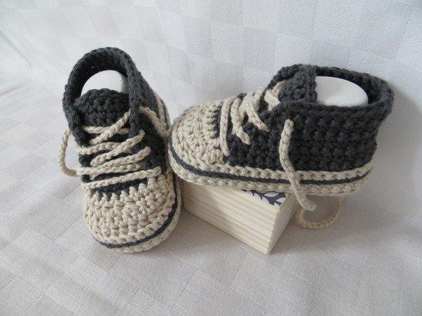 Babyschuhe häkeln--Sneakers / Stiefel / Boots