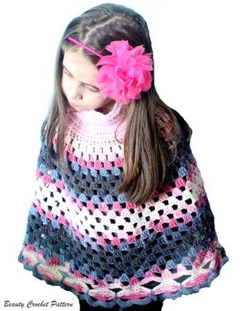 Crochet Poncho Pattern, Women Ponchos, Granny Square Pattern, Poncho ...