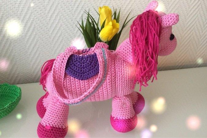 Kostenlose Häkelanleitung Tasche Für Mädchen Als Pferd