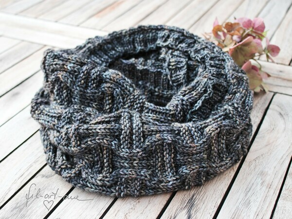 Knitting pattern cowl / boyfriend-loop for men