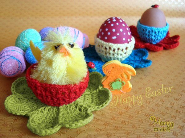 Clover easter decoration pattern crochet easter basket crochet egg clover easter decoration pattern crochet easter basket crochet egg holder easter cup easter gifts crochet clover negle Images