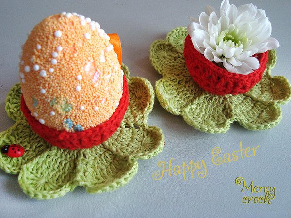 Pattern, Crochet Easter Basket, Crochet Egg Holder, Easter Cup, Easter ...