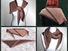 "Knitting pattern shawl ""Two-Color-Play Donar"""