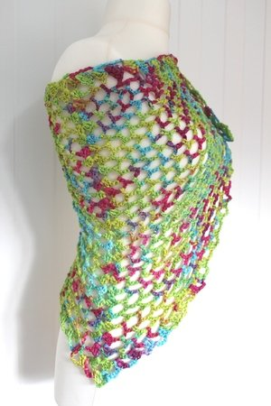 "crochet pattern triangle scarf ""coralreef"""