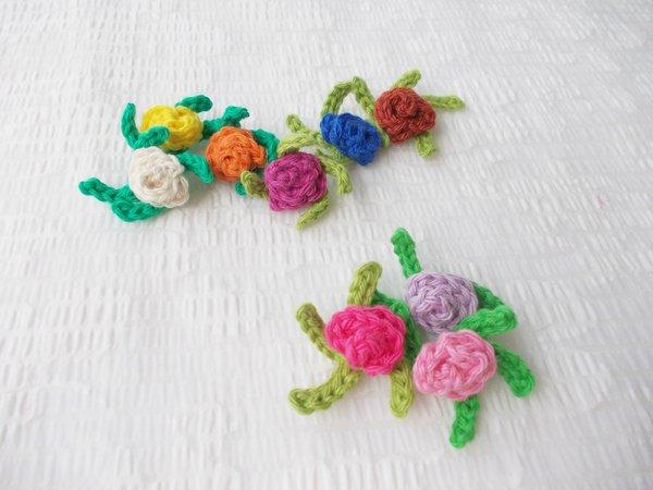 Blumen Häkeln Rosen Aus Wollresten Häkeln