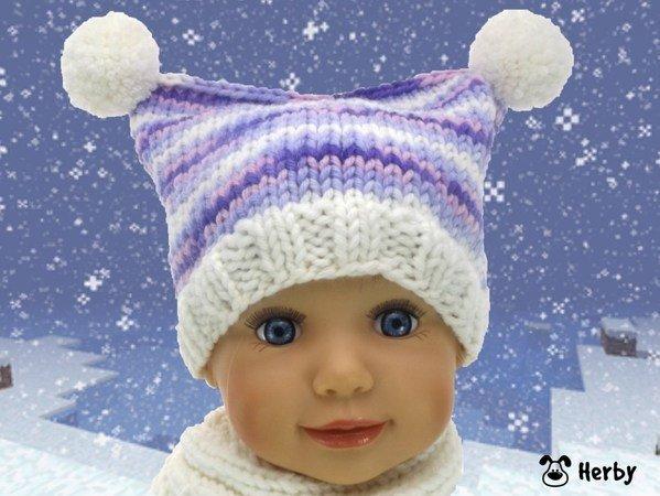 Baby Mütze Mit Zwei Bommeln Stricken Diy