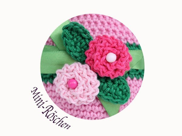 Blumen häkeln -- Mini-Blumen /// Deko-Rosen