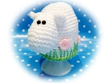 sheep egg cozy - crochet pattern