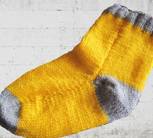 Socken Stricken Einfach Ohne Nadelspiel