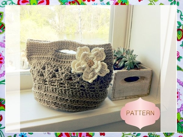 Crochet Net Bag Pattern : Eireen Bag Crochet Pattern- Easy Woman Bag