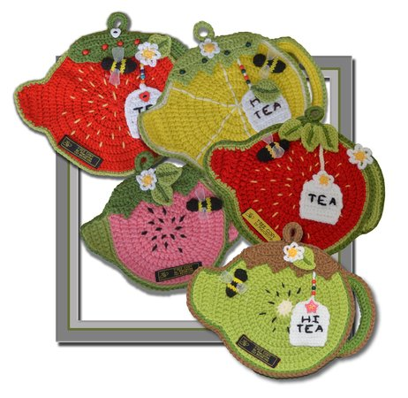 Fruity Tea Pot - Pot & Plate Holders