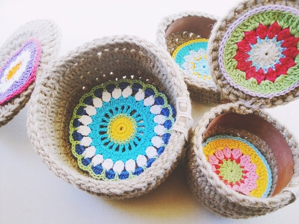 3 Patterns Bundle-Great Crochet Box Set -Flowers and Circles also-Infinite Uses