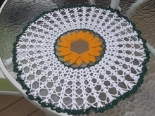 Double Petal Sunflower Doily