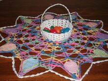Egg Hunt Doily