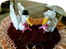 Pineapple Swans Wedding Doily