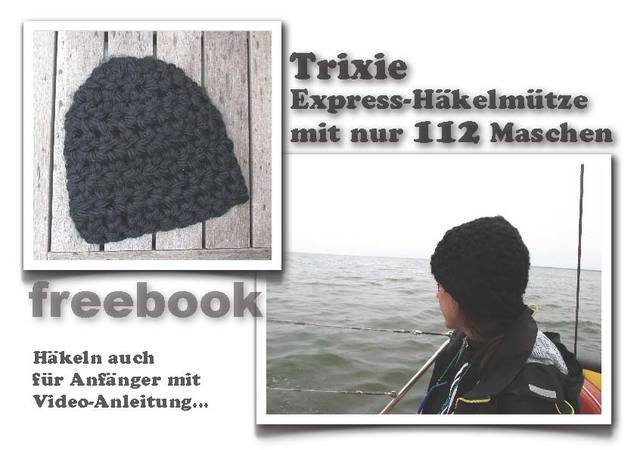 Trixie Express Häkelmütze E-Book PDF-Datei mit Video-Anleitung Handmade with Love by firstloungeberlin