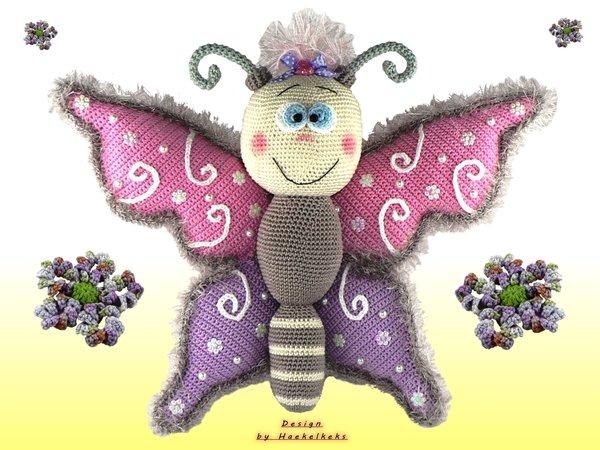 Schmetterling häkeln - Türdeko // Fensterdeko