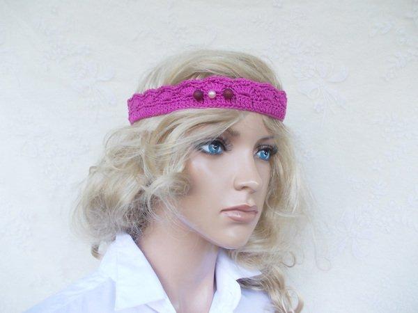 Häkelmuster für Stirnband, Armband, Häkel-Kette, elegantes Muster ...