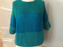 Knitting pattern for a raglan sweater