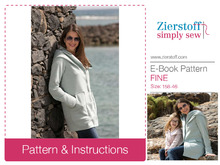FINEs casual jacket pattern, sizes 158-46 (Kids M – women´s XL)