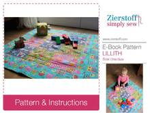 LILLITHs patchwork blanket / playpen blanket