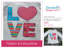 Letters ABC…customize your shirt, dress, etc.