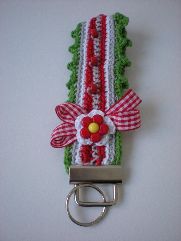 Crochet Keychain : These keychains are crocheted quickly. You can crochet them in your ...