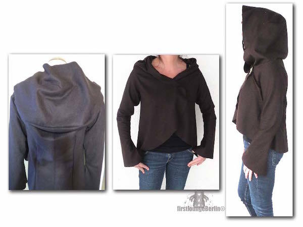 US-Martha E-Book jacket with collar or hoodie in 5 sizes XS-XXL sewing instruction with pattern design With Love from firstloungeberlin