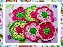 Sweet African Flower Square Crochet Pattern