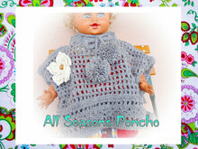Baby and Mother Pattern-All Seasons Poncho - Children: from 0 to 8 years