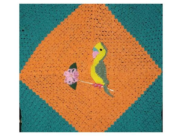 Decke und Vorhang \