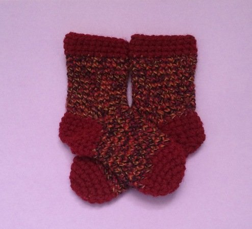 Crochet Baby Socks Pattern 0 6 Months 4 12 Inches 1143 Cm