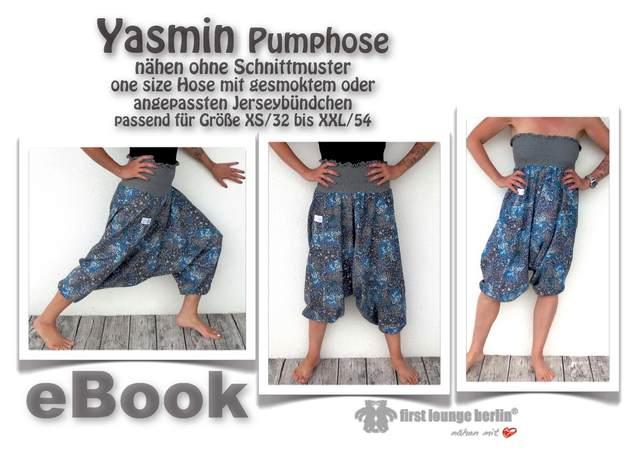 Yasmin *** E-Book PDF-Datei Aladinhose XS-XXL Nähen ohne Schnittmuster
