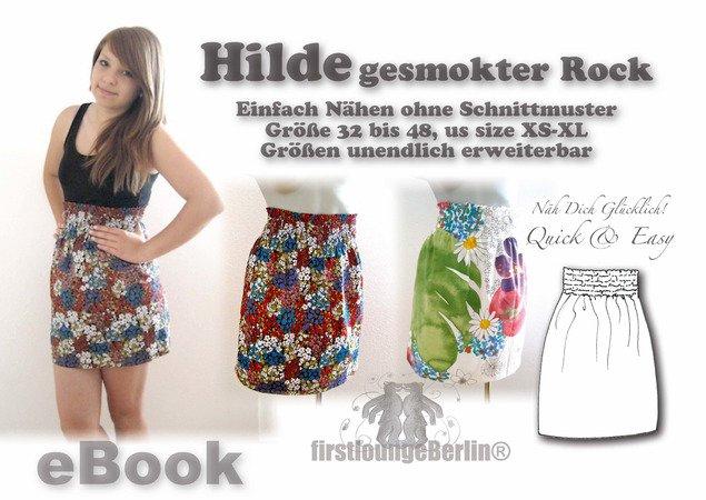 Hilde *** E-Book Pdf-Datei gesmokter Rock, Nähanleitung ohne Schnitt ...