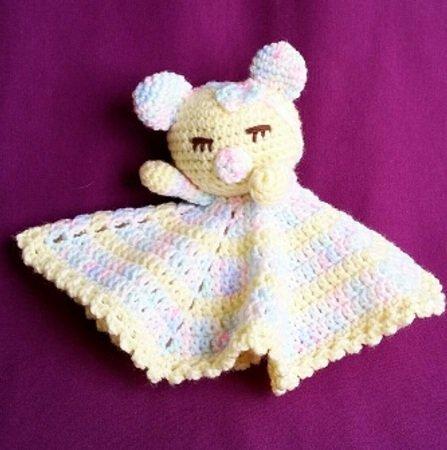 Mini Cuddly Blanket Teddy Bear Crochet Pattern