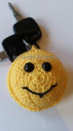 Häkelanleitung Schlüsselanhänger Smiley